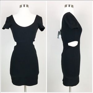 Urban Outfitters black cut out mini dress